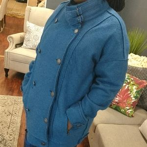 Free people double breast oversize   jacket size L